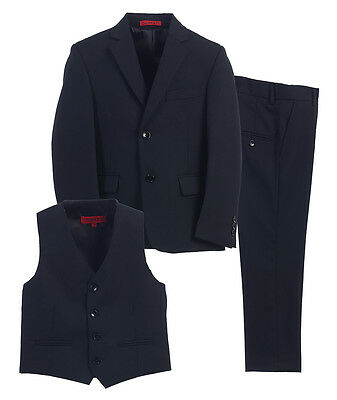 Kids Formal 3 Piece Set Pants,Vest,Jacket Toddler Boys Size 2T-5T Black Charcoal