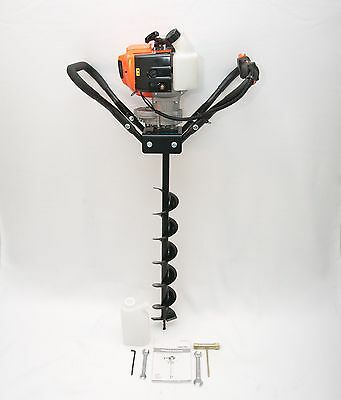 """Hand-Held Post Hole Digger/Earth Auger w/4"""" Diameter Bit, 43cc 1.75hp Gas Engine"""