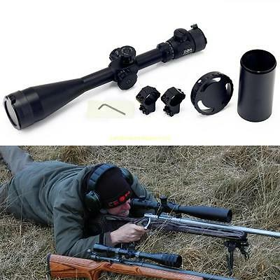 New ZOS 10-40x60 SFE IR SWAT Extreme Tactical Rifle Scope For Outdoor Sports