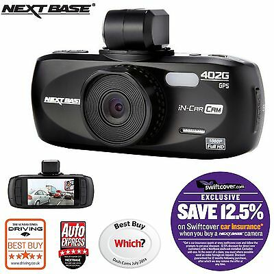 "Nextbase 402G Car Dash Dashboard Video Camera 2.7"" 1080P HD DVR Cam"