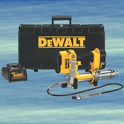 DEWALT Grease Gun Cordless 18V Kit Battery Charger Long Flexible Hose LED #4432