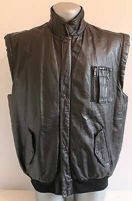 PETROFF Waistcoat Real Leather INSULATED Vest Black Size L Perfect Condition!!