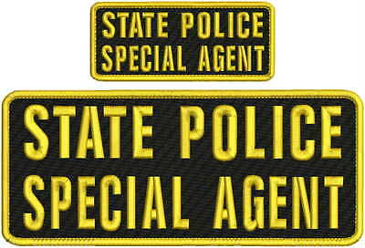 STATE OF TEXAS SPECIAL INVESTIGATOR EMB PATCH 4x10  hook on backGOLD