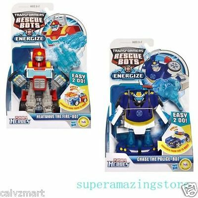 Transformers Rescue Bots Energize Chase the Police Heatwave the Fire Bot Fig