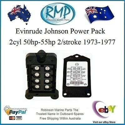 A New CDI Evinrude Johnson Power Pack 2cyl 50hp-55hp 1973-1977 # 581397 Nice