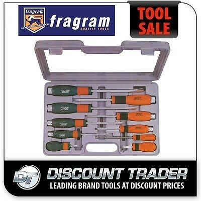 Fragram 10 Piece Go Through Impact Screwdriver Set - S1882