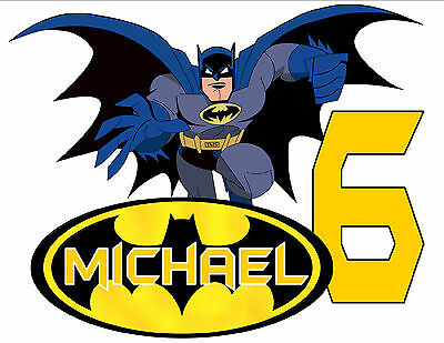 BATMAN HAPPY BIRTHDAY T-SHIRT Personalized Any Name/Age Party Favor