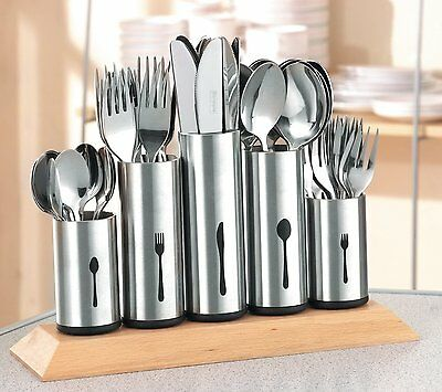 Kitchen Cutlery Storage Holder Organiser Flatware Spoon Fork Stainless Steel NEW