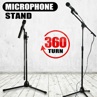 New Telescopic Boom Microphone Stand Adjustable Mic Holder Tripod 1 to 2 M AU