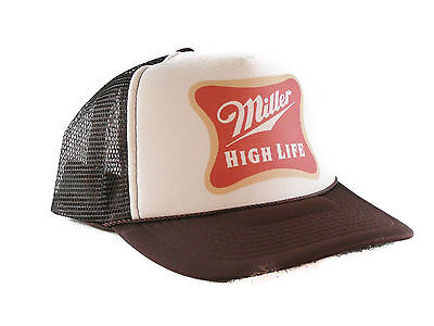 Miller High Life beer Trucker Hat mesh hat snapback hat tan brown