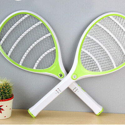 Orange LED Electronic Mosquito killer Fly Swatter Bug Zapper Racket Insects Bat