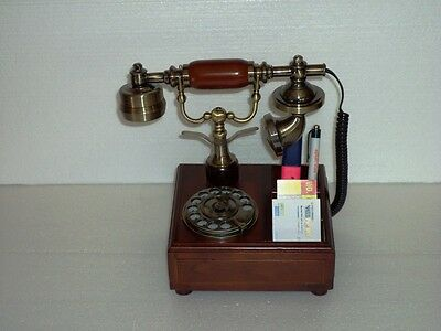 Phone For Table In Wood Vintage Style Classic Period 3 Partitions