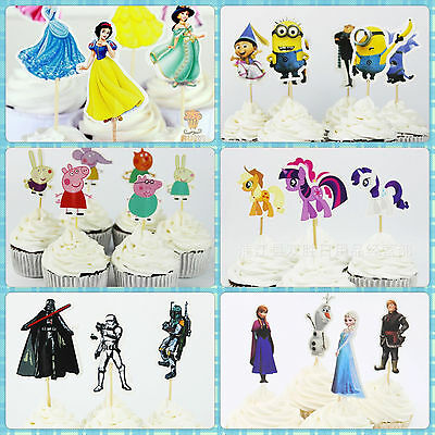 My litte Pony ,Star Wars Characters toppers Cupcake Cup Cake Topper Party 24 pcs