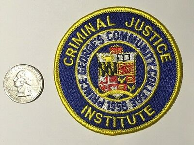 Prince Georges College Criminal Justice Institute Police Academy Patch Maryland