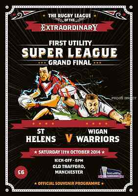 ST HELENS v WIGAN 2014 SUPER LEAGUE GRAND FINAL RUGBY PROGRAMME