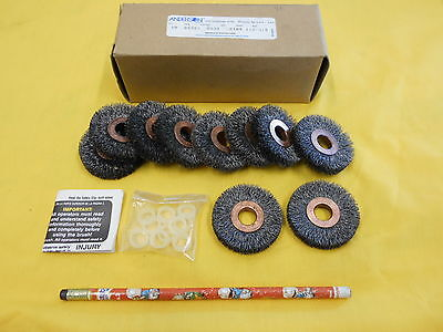 "LOT of 10 NEW 2"" CRIMPED WIRE WHEELS deburring brush ANDERSON USA No. SS20"