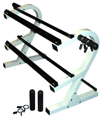 "Ader 2 Tier Dumbbell Rack 44"" with Plate Holders (DR-2-44AP)"