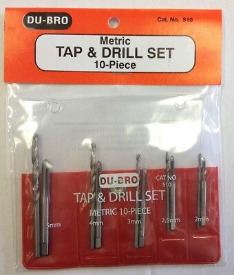 Dubro 10 Piece Metric Tap & Drill Set (2mm - 5mm)  DUBRO510