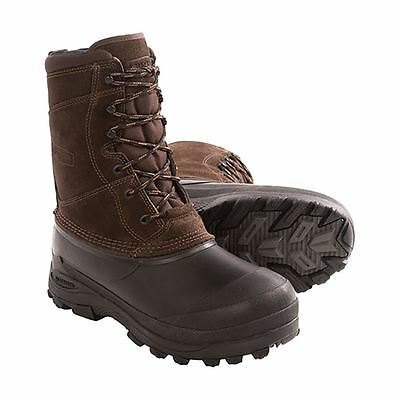 Lacrosse PINE TOP Boys Brown Leather Warm Insulated Waterproof Winter Snow Boots