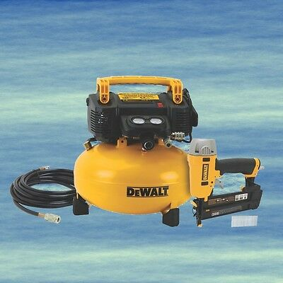 DEWALT Brad Nailer PLUS COMPRESSOR Pneumatic Nailing Kit Air Hose Fittings #4145