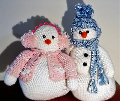 Crocheted & Stuffed Snow Couple