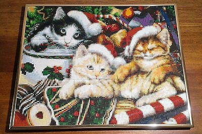 Mosaic, Pixel Art, Christmas Kittens Picture