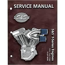 S&S Service Manual BT'99up T124 T-Series S&S Engines fits Harley Davidson