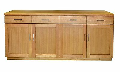 NEW YORK SOLID Victorian Ash Buffet Sideboard 4 Doors 4 Drawers