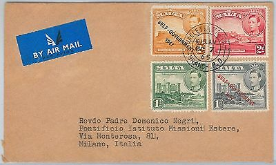 MALTA -  POSTAL HISTORY - AIRMAIL  COVER to ITALY  1965