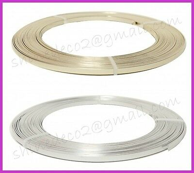 5mm/1mm x 2 meter long Flat Aluminium Wire - Many Colours