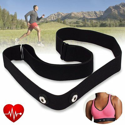 Adjustable Chest Belt Strap Band for Garmin Wahoo Polar Sport Heart Rate Monitor