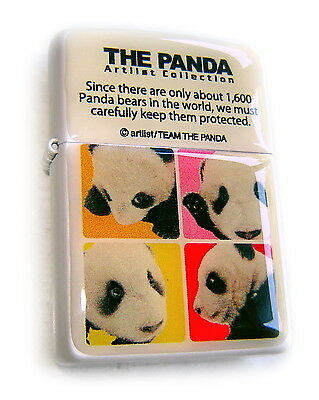 Zippo Beauty PANDA BEAR COLLECTION 2 JAPAN Limited Edit. CERAMIC Plate MEGA RARE