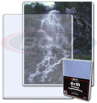 (10) 8 x10 Photo Protectors Rigid Toploaders BCW Protect photos from damage