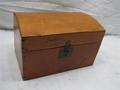 Antique Wooden Dome Top Doll Clothes Trunk