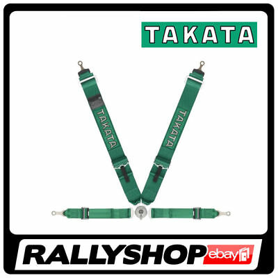 FIA Takata RACE 4 point HARNESS GREEN, CHEAP DELIVERY (Bolt-ON, Rollcage)