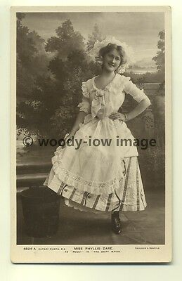 b0434 - Film & Stage Actress - Phyllis Dare as Peggy in Dairy Maids - postcard