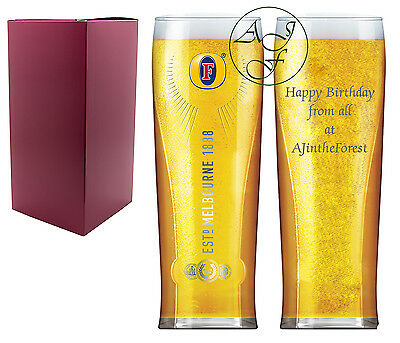Personalised Engraved 1 Pint Fosters Branded Lager Glass Birthday Gift