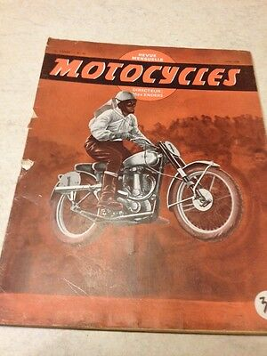 Rare revue Motocycles N° 23 scooter speed , 150 DS Malterre etc   ... éd. 1949
