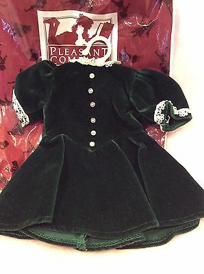 American Girl Molly Retired Pleasant Company Evergreen Velvet Dress