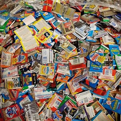 50 Original Unopened Packs of Vintage Baseball Cards at least 400 card for GIFT
