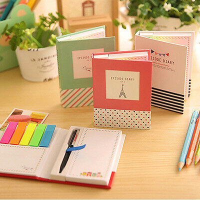 Sticky Notes Notebook Memo Pad Bookmark Paper Sticker Notepad Stationery Classic