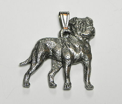American Bulldog  Pendant Dog Harris Fine Pewter Made in USA jewelry