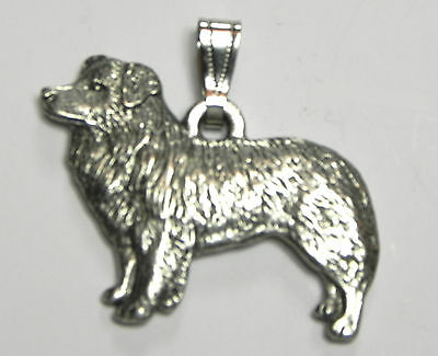 Border Collie Pendant Dog Harris Fine Pewter Made in USA jewelry