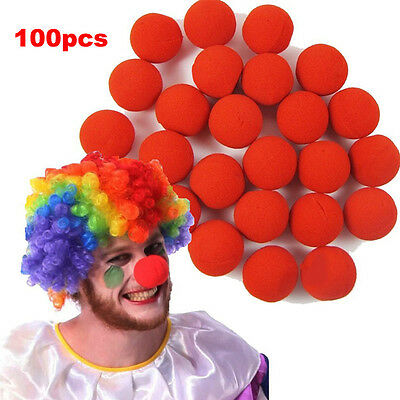 100xBall Red Sponge Foam Clown Magic Nose for Costume Party Christmas Masquerade