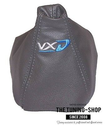 For Opel Vauxhall Astra H Mk5 Gear Gaiter Grey Leather Embroidery Vxd