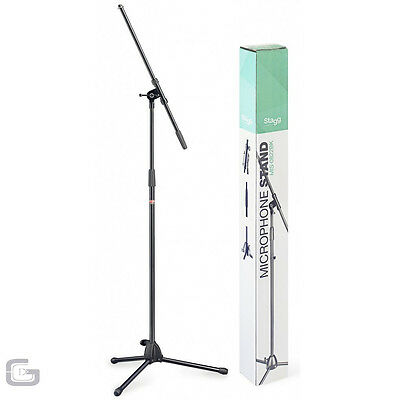 Stagg High Quality Mic Microphone Boom Arm Stand W/ Foldable Legs Mis-0822Bk