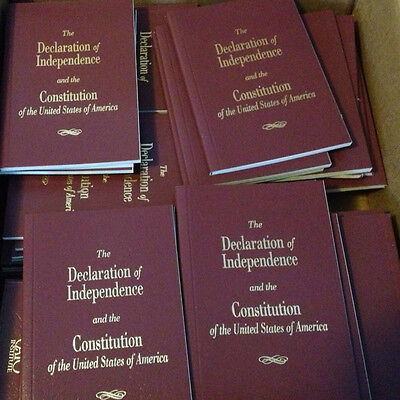 3 Pocket Size United States Declaration Of Independence & Constitution Of The US