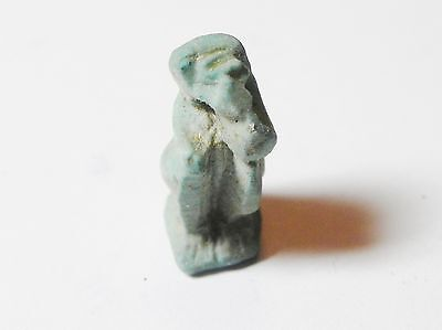 ZURQIEH -aa394- ANCIENT EGYPT , FAIENCE BABOON AMULET , 600 - 300 B.C