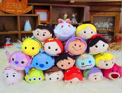 Lots Of Disney TSUM TSUM Mini Soft Plush Toys Dolls Screen Cleaner With Chain