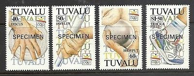 Tuvalu 1992 Olympic Games opt Specimen  MNH